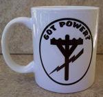 Got Power? Power Pole and Lightening Bolt Coffee Cup Mug